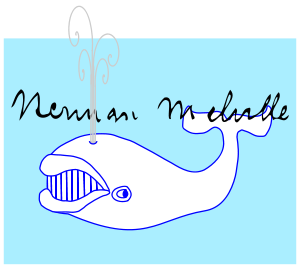 English: Moby Dick & Herman Melville signature...