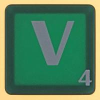 scrabble letter V