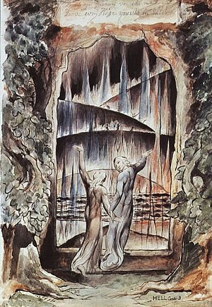 Dante's Gate of Hell by William Blake