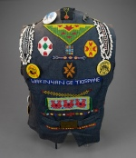 """Waistcoat with Badges, """"Support the Miner..."""