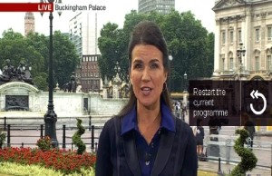 Susanna Reid reports from a greenygrey Buckingham Palace.