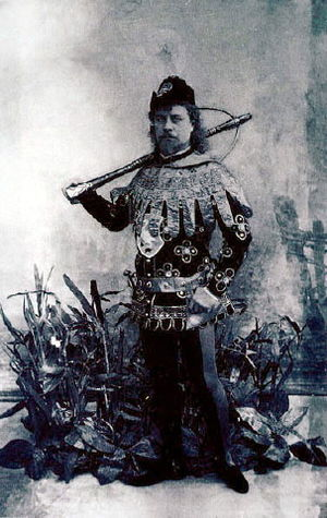 Pavel Gerdt as Prince Siegfried in the Petipa/...