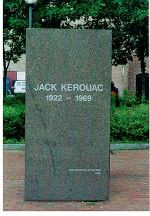 English: Memorial stone of the author Jack Ker...